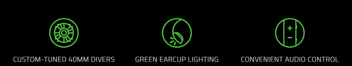 Tai nghe Razer Kraken X USB Black (RZ04-02960100-R3M1) đi kèm những tính năng cao cấp