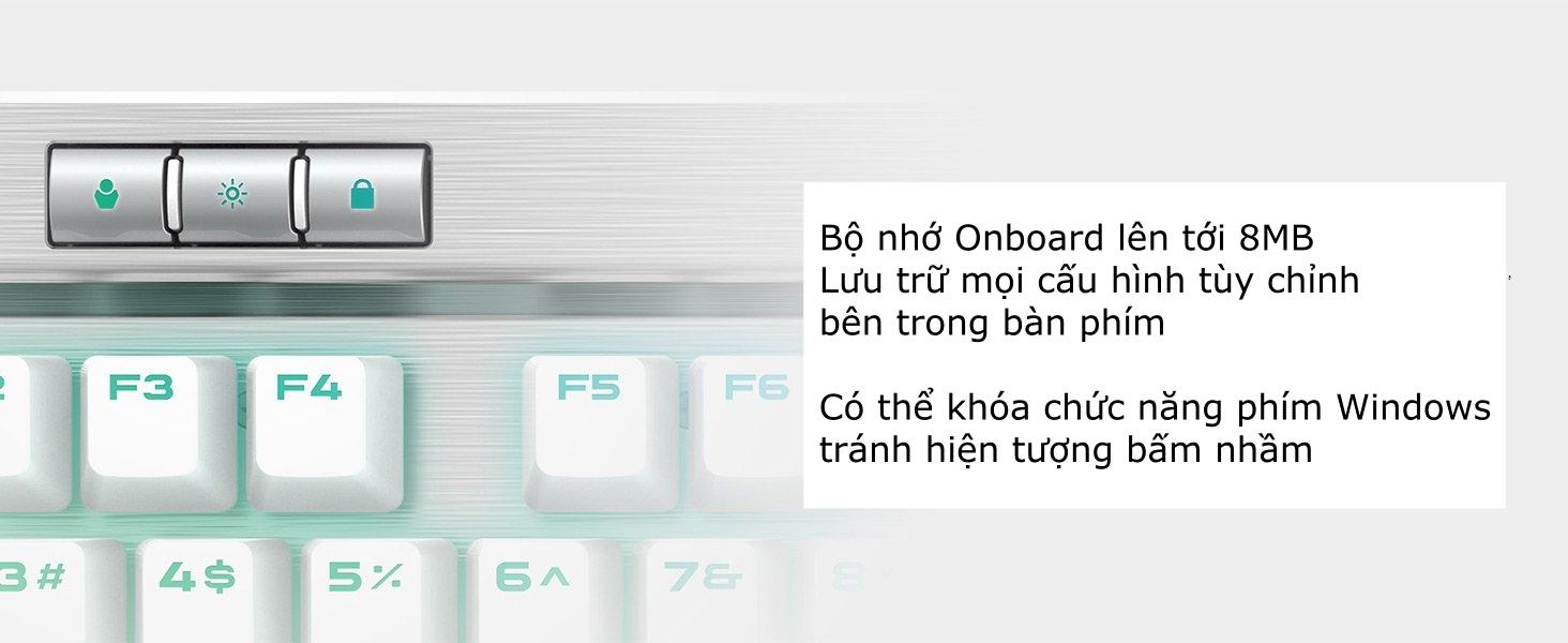 Bàn phím cơ Corsair K70 RGB MK2 SE Mechanical Cherry MX Speed  5
