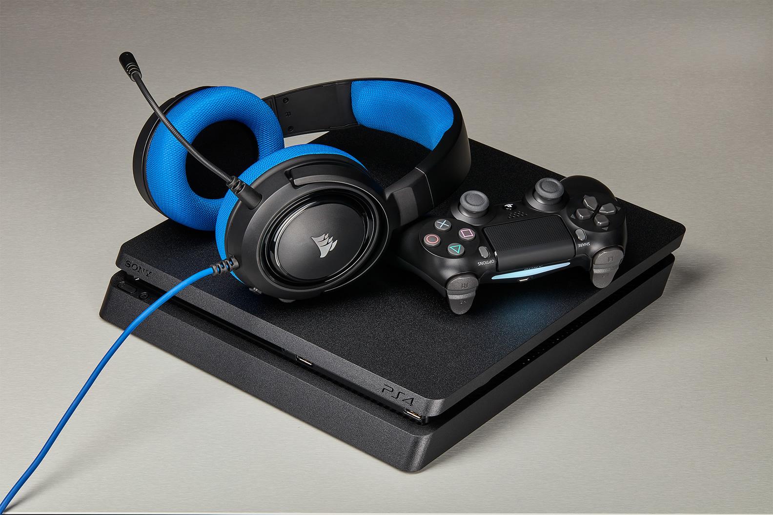 Tai nghe Corsair HS35 Stereo Blue 4