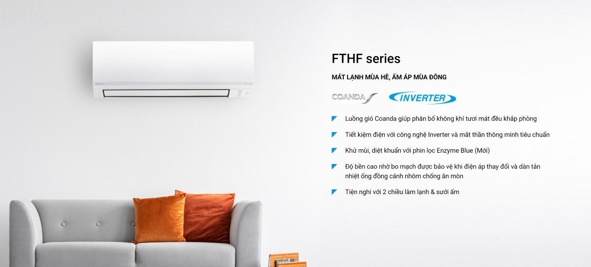 Điều hòa nhiệt độ 2 chiều Daikin Inverter 18000BTU FTHF50VVMV/RHF50VVMV 1