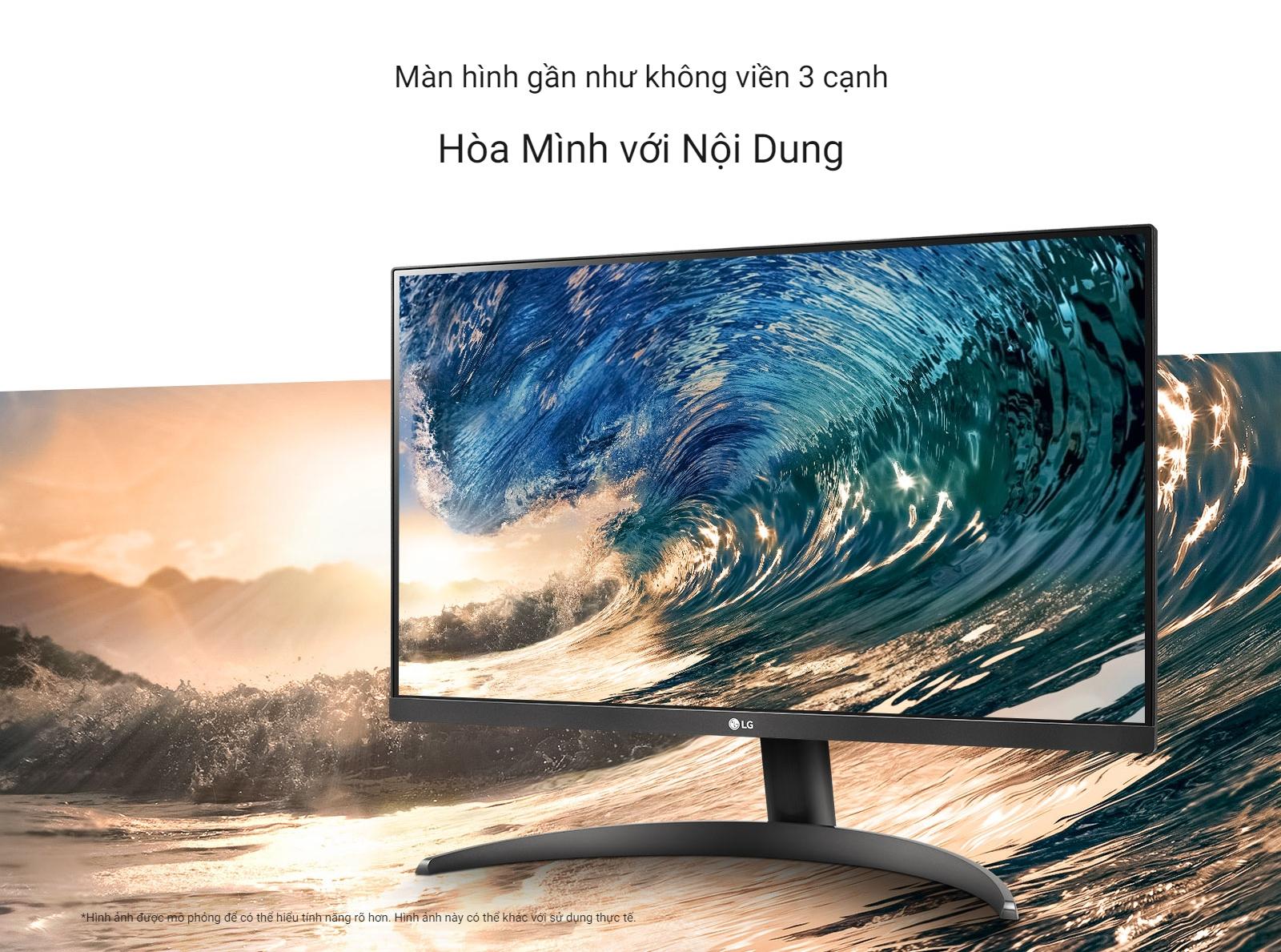 LG 24QP500-B màn hình gần như không viền