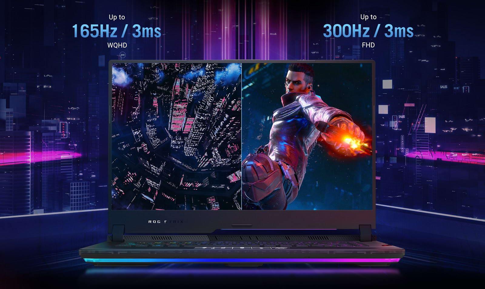 màn hình FHD 300Hz/ 2K 165Hz với Adaptive-Sync