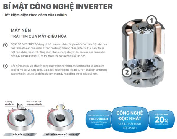 Điều hòa nhiệt độ 1 chiều Daikin Inverter 12000BTU FTKA35VAVMV/RKA35VAVMV ảnh 8