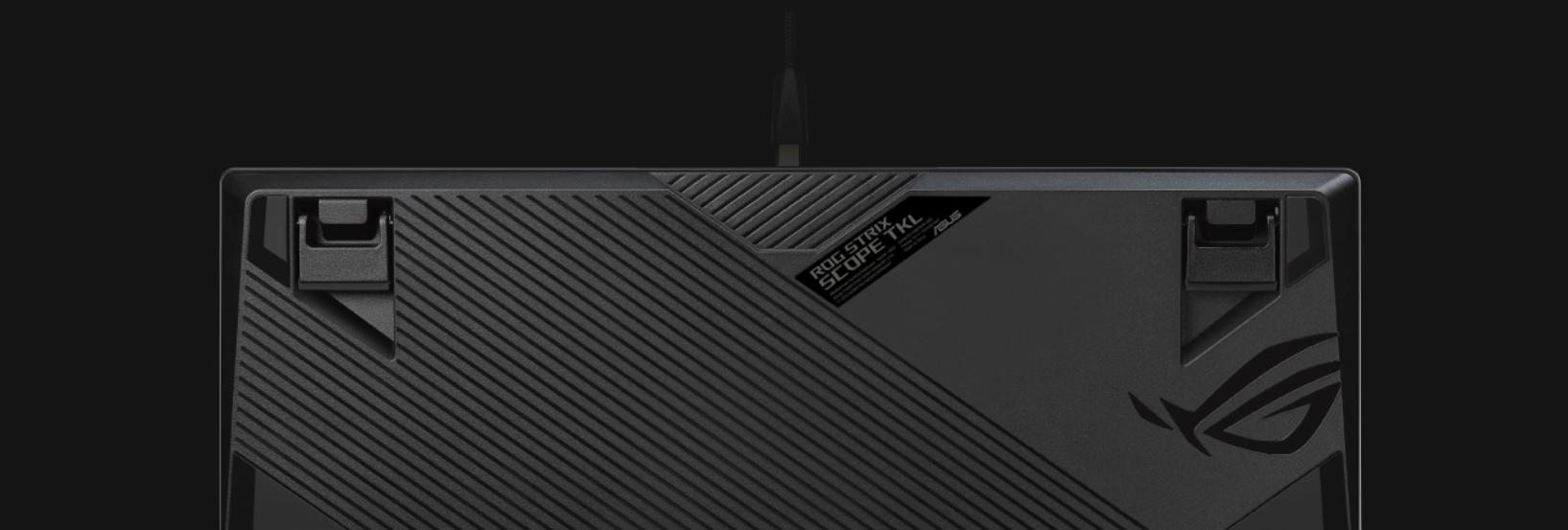 Bàn phím Asus ROG Strix Scope TKL (USB/RGB/Red sw) có thiết kế gọn nhẹ và dây cáp tháo rời