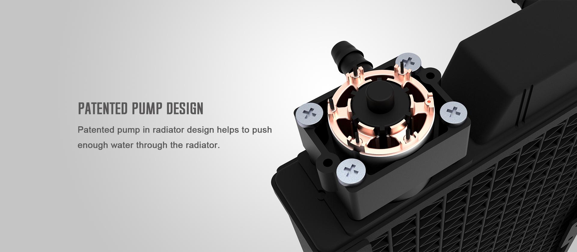 Tản Nhiệt Nước ID-COOLING ICEFLOW 240 ARGB được cấp bằng sáng chế về thiết kế bơm nhằm nâng cao hiệu quả bơm, giúp bơm liên tục luân chuyển dòng nước nóng - lạnh để nâng cao hiệu năng làm mát