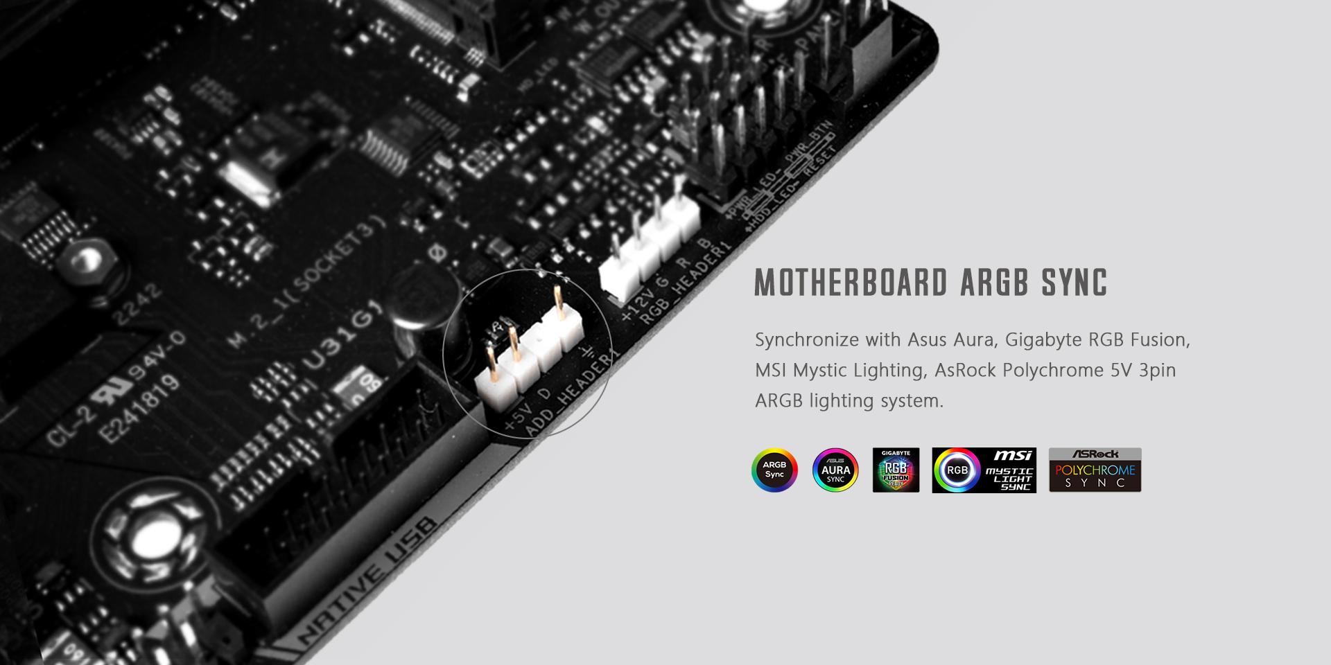 Tản Nhiệt CPU ID-COOLING SE-224-XT ARGB V2 tương thích với các mainboard có chân ARGB 5v 3pin hiện nay, giúp fan có thể tùy chỉnh được nhiều màu sắc khác nhau