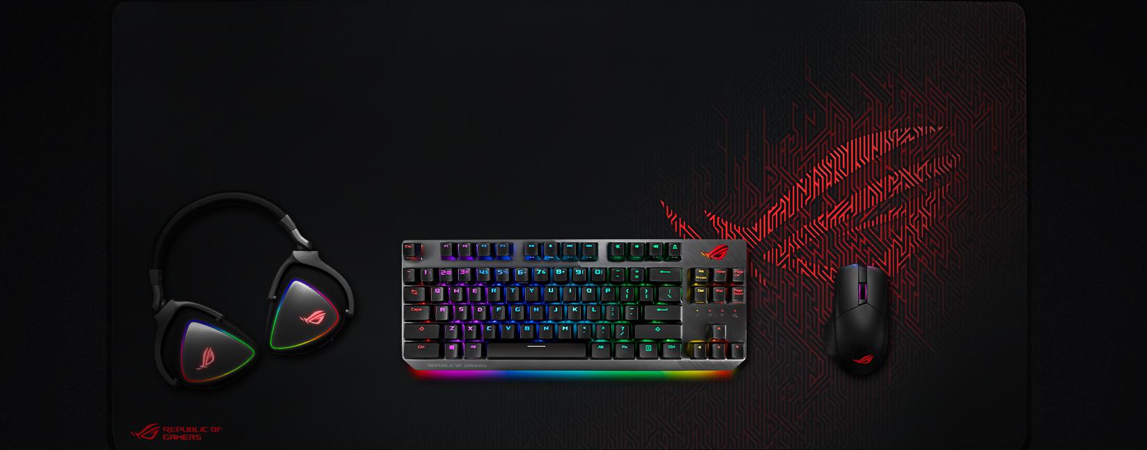 Bàn phím Asus ROG Strix Scope TKL (USB/RGB/Red sw) có thiết kế TKL gọn gàng
