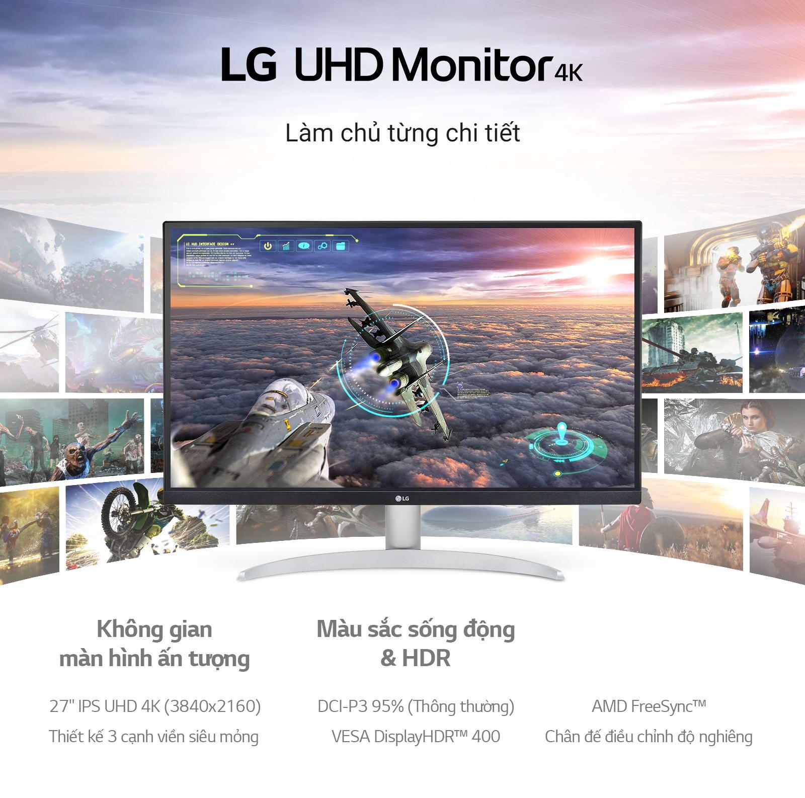 LG 27UP600-W màn hình 4k