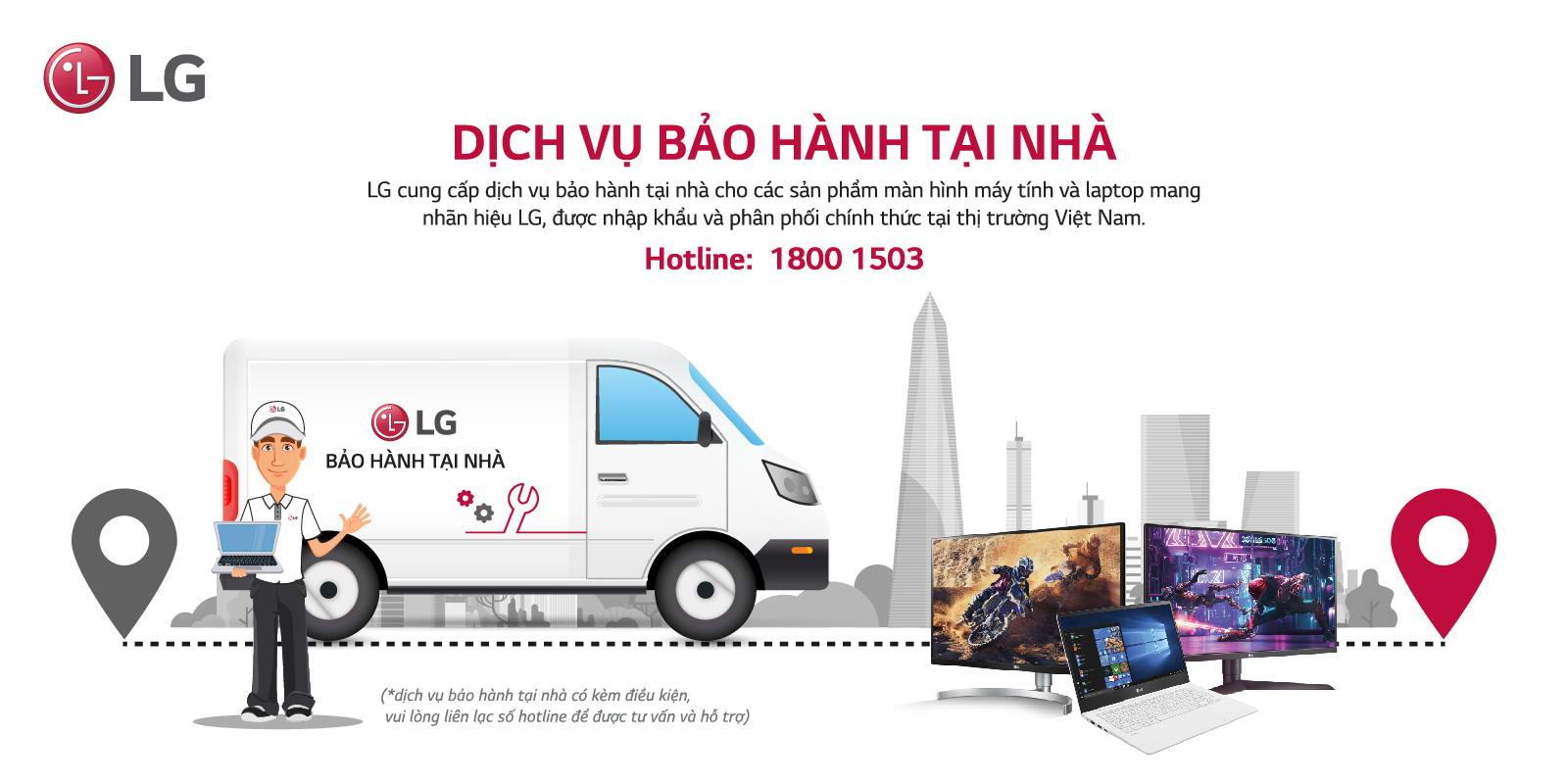 LG 27UP600-W bảo hành tại nhà