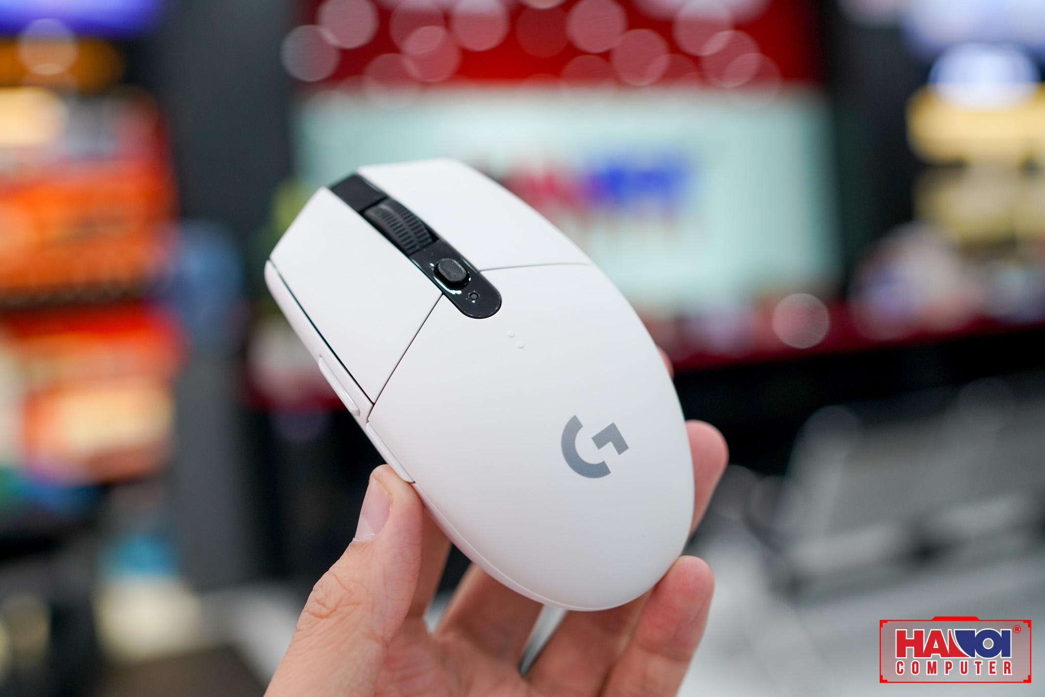 Chuột không dây Logitech G304 Lightspeed trắng (USB) trang bị mắt cảm biến hero cao cấp