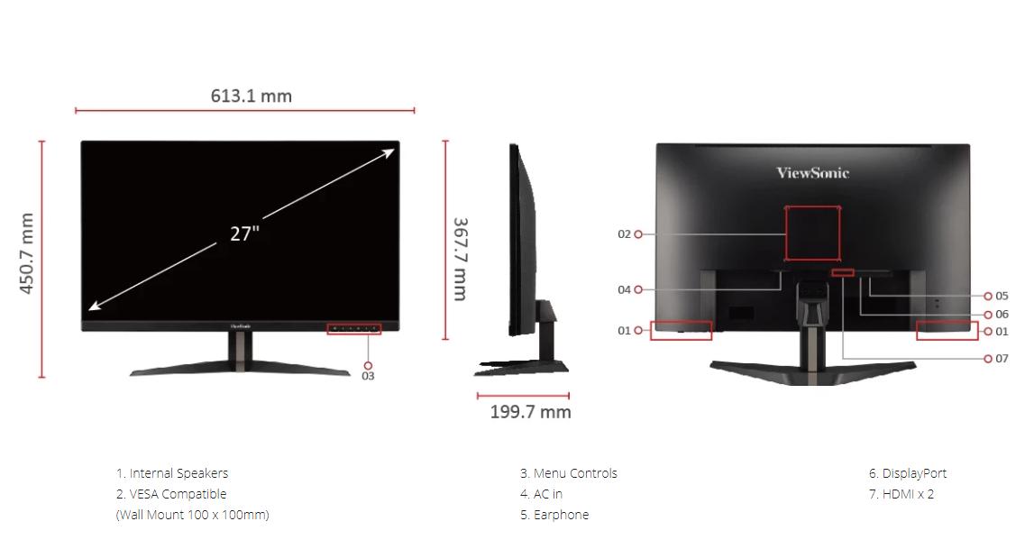 Màn hình Viewsonic VX2705-2KP-MHD-10