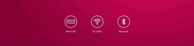 Chuột không dây chơi game Asus ROG Pugio II (P705) (USB/RGB/Đen) có kết nối đa dạng