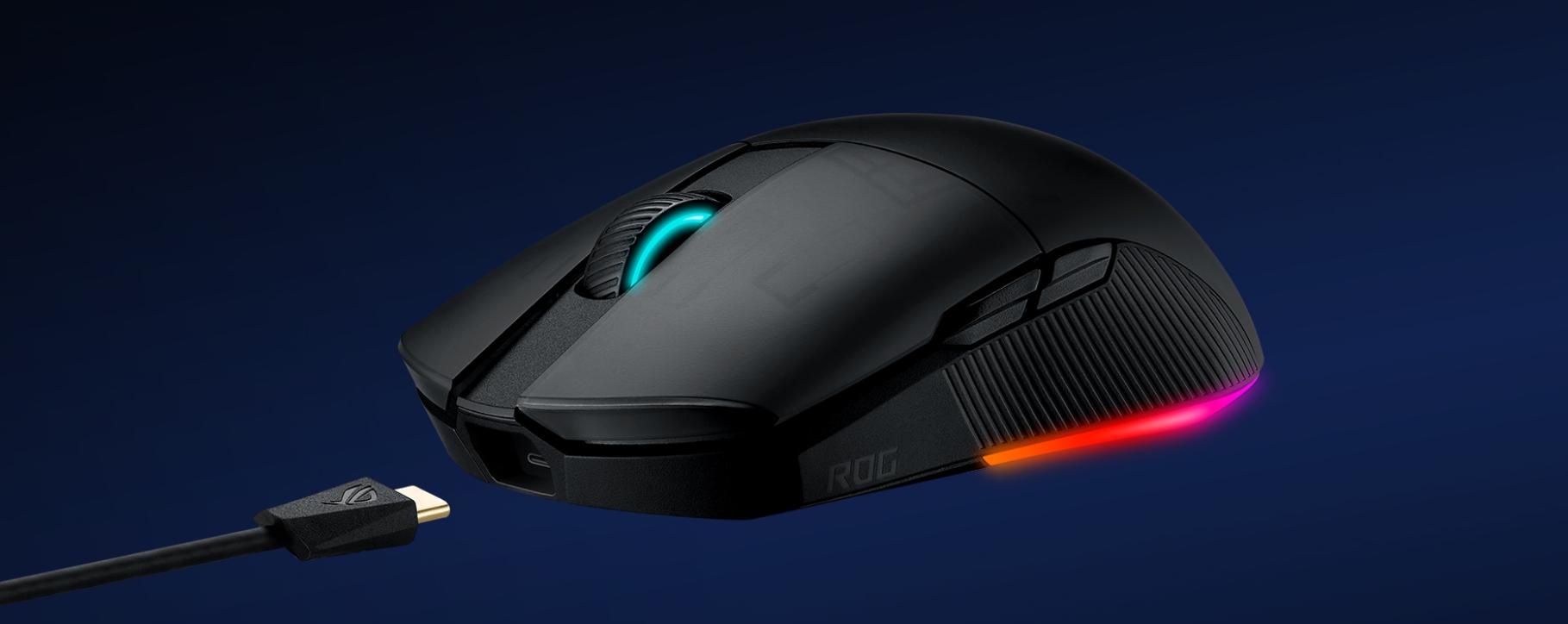 Chuột không dây chơi game Asus ROG Pugio II (P705) (USB/RGB/Đen) trang bị mắt cảm biến cao cấp