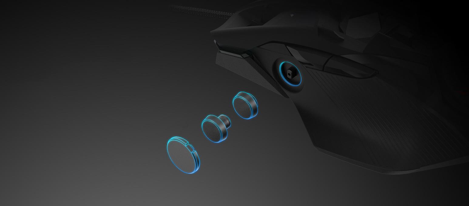 Chuột không dây chơi game Asus ROG Chakram (P704) (USB/RGB/Đen) có thể tuỳ chỉnh cần joystick