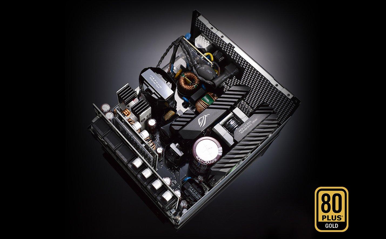Tụ điện của Nguồn Asus ROG Strix 850W Gold - 850W 80 Plus Gold Full Modular