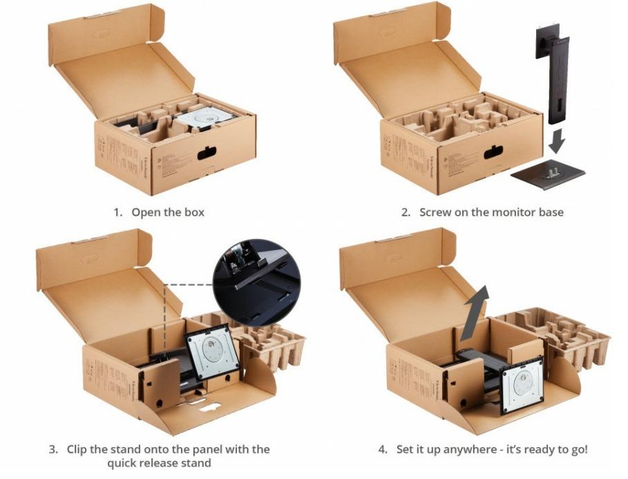 ViewSonic VG2440V Lắp đặt dễ dàng
