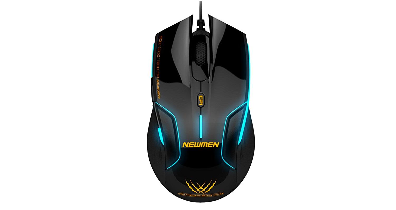 mouse-newmen-n500-optical-usb-gaming có thiết kée hiện đại