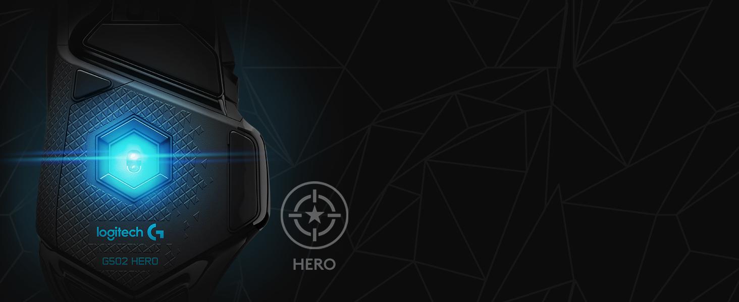Chuột Logitech G502 Hero KDA (USB/RGB/Đen trắng) trang bị mắt cảm biến Hero 25k cao cấp