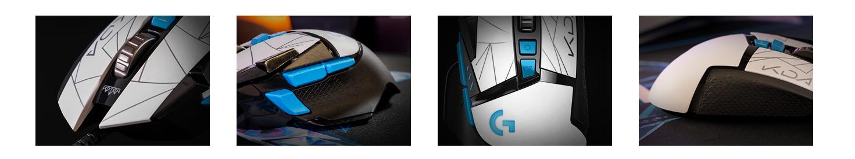 Chuột Logitech G502 Hero KDA (USB/RGB/Đen trắng)  có thiết kế thông minh