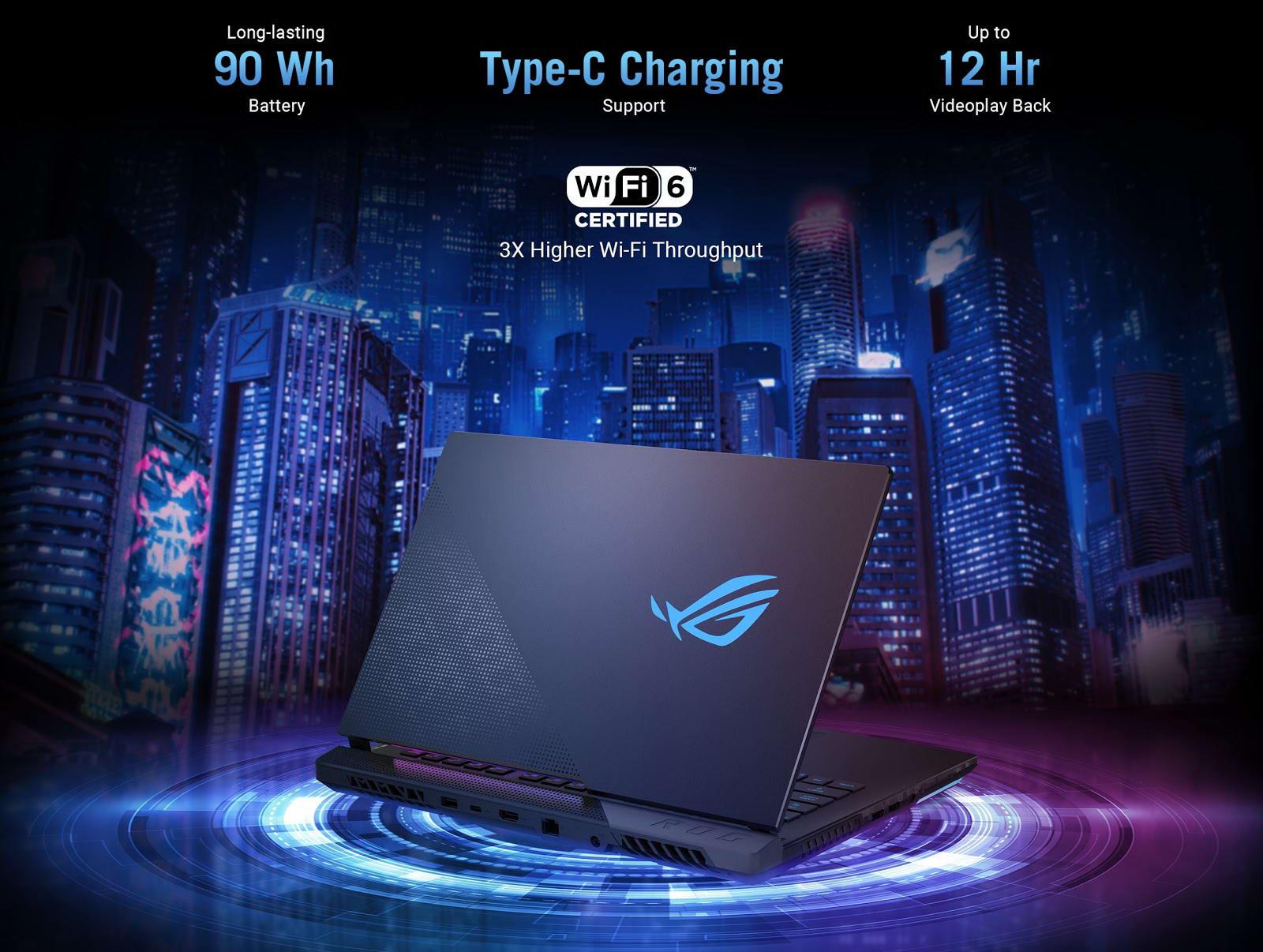 Asus Gaming ROG Strix Scar G533QR 90wh