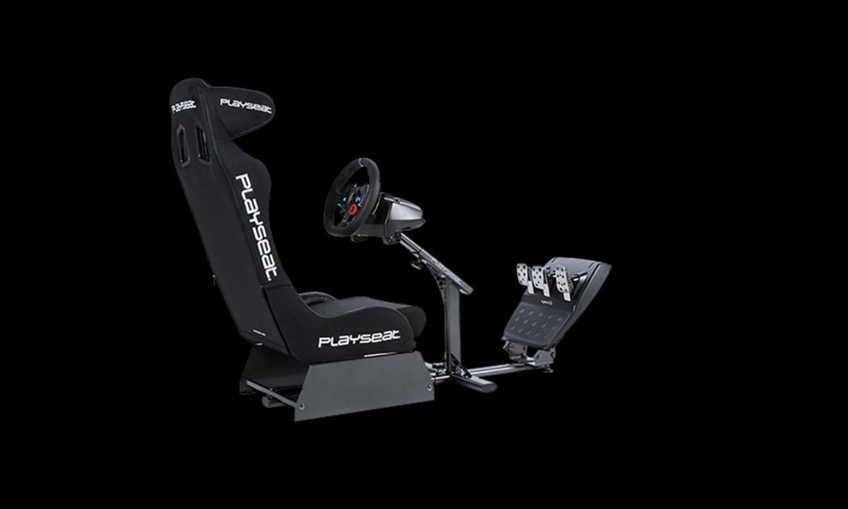 Vô Lăng chơi game Logitech G29 DRIVING FORCE có thể gắn vào các loại buồng lái giả lập