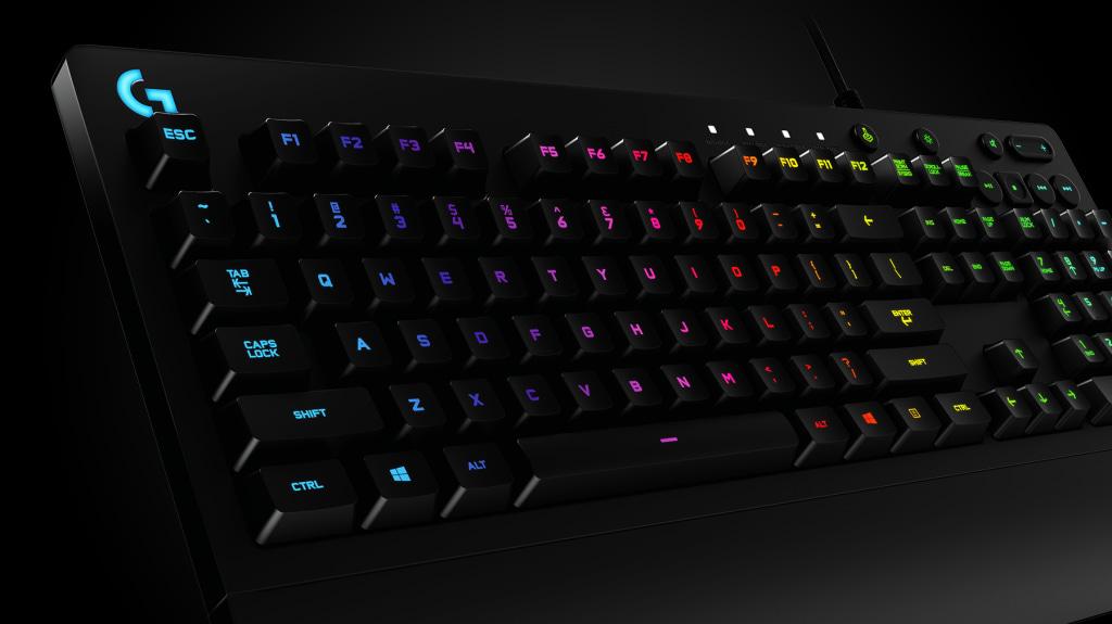 Đèn led RGB của Bàn phím cơ Logitech G213 Prodigy RGB Gaming