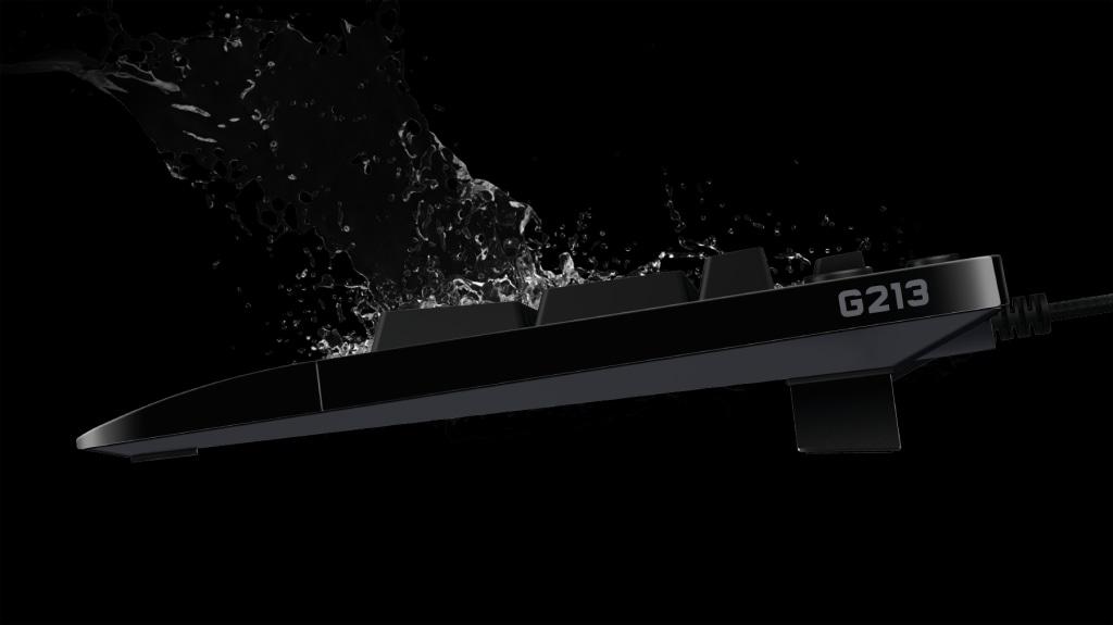 Thiết kế chống nước của Bàn phím cơ Logitech G213 Prodigy RGB Gaming