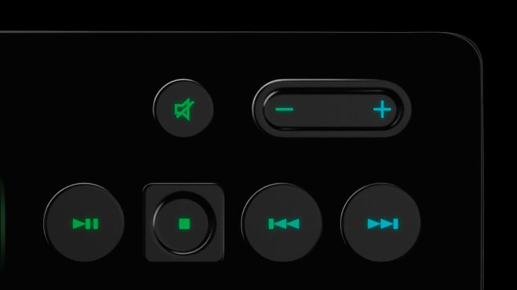 Phím Multimedia của Bàn phím cơ Logitech G213 Prodigy RGB Gaming