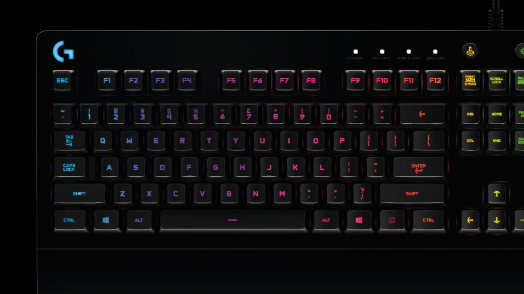 Bàn phím cơ Logitech G213 Prodigy RGB Gaming có thể tuỳ chỉnh bằng phần mềm Ghub