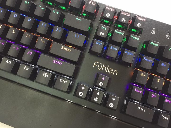 Bàn phím gaming Fuhlen D Destroyer Mechanical Blue Switch Black sử dụng switch phím cơ bền bỉ