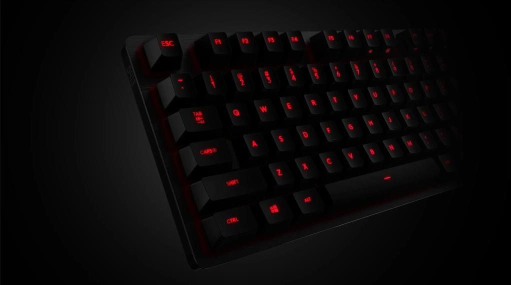 Bàn phím cơ Logitech G413 Carbon Mechanical Backlit Gaming trang bị dải led 1 màu nổi bật