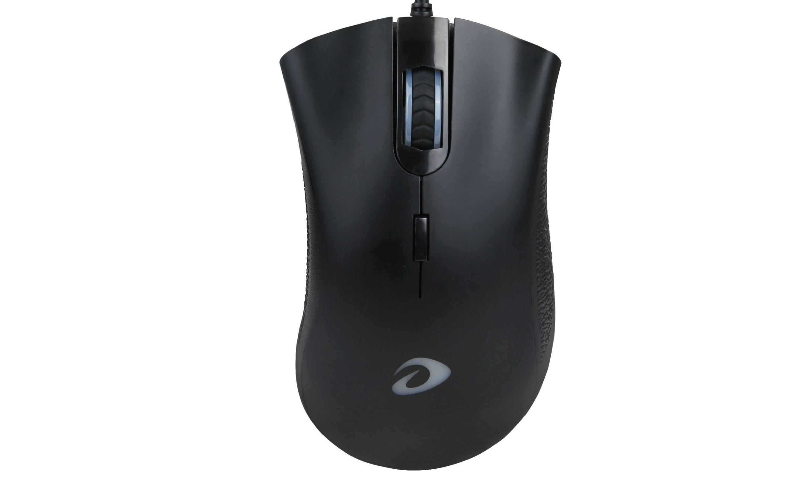 Chuột chơi game Dareu VX6 USB Black trang bị led ở logo đẹp mắt