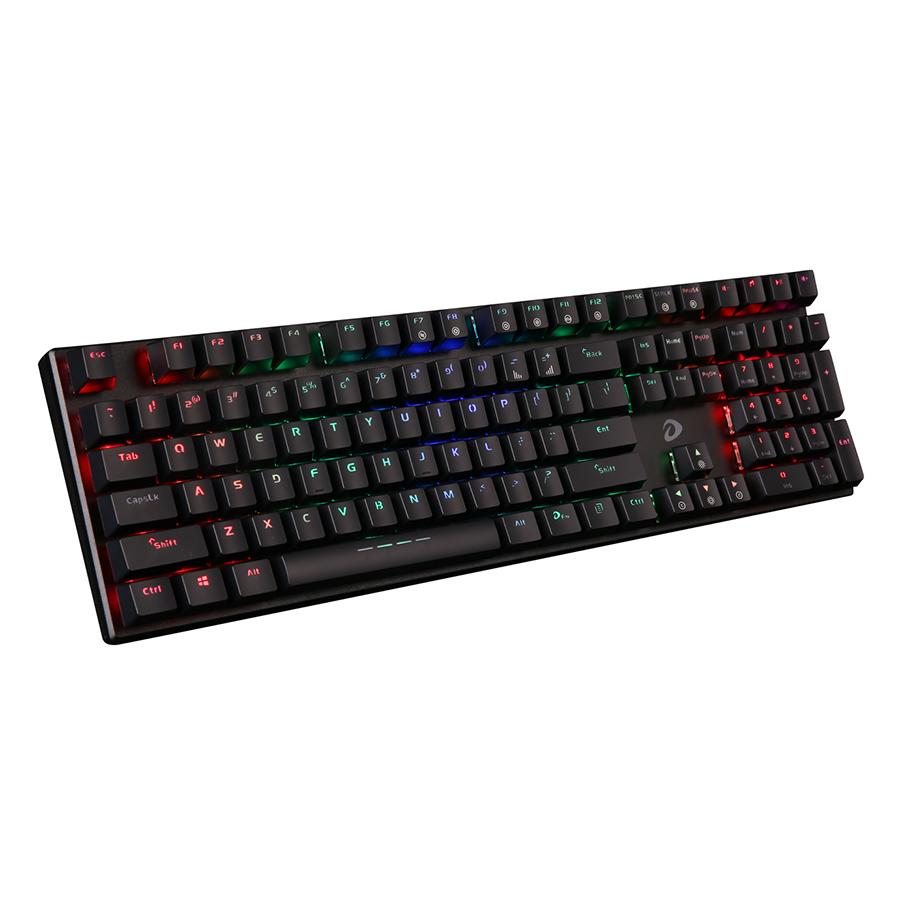 Bàn phím cơ Dareu EK810 RGB Mechanical Brown Switch Black cóp hệ thống đèn led đẹp
