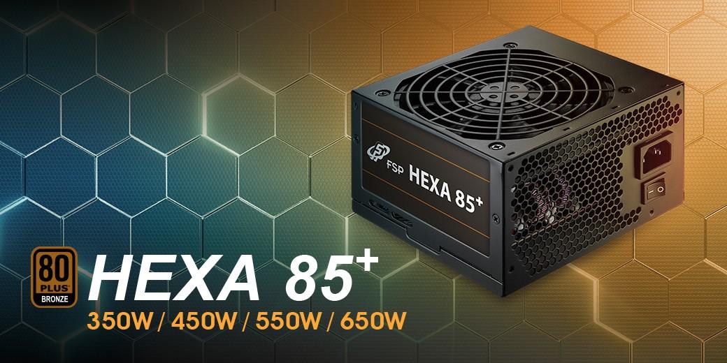 Nguồn FSP Power Supply HEXA 85+ Series Model HA450 Active PFC (80 Plus Bronze/Direct Cable /Micro ATX/Màu Đen) giới thiệu 1