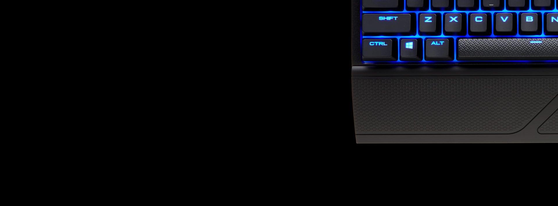 Bàn phím cơ Corsair K63 Wireless - Cherry MX Red (USB/Blue Led) (CH-9145030-NA) trang bị kê tay có thể tháo rời