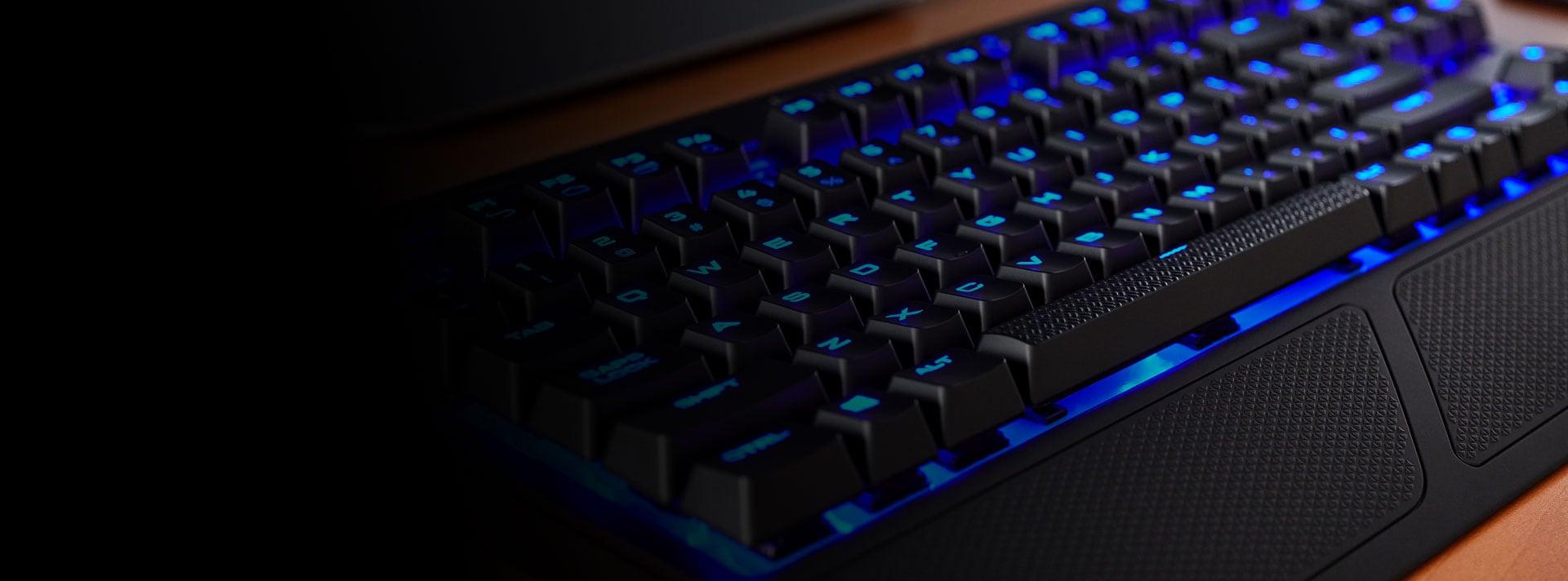 Bàn phím cơ Corsair K63 Wireless - Cherry MX Red (USB/Blue Led) (CH-9145030-NA) tích hợp đèn led 1 màu nhiều hiệu ứng