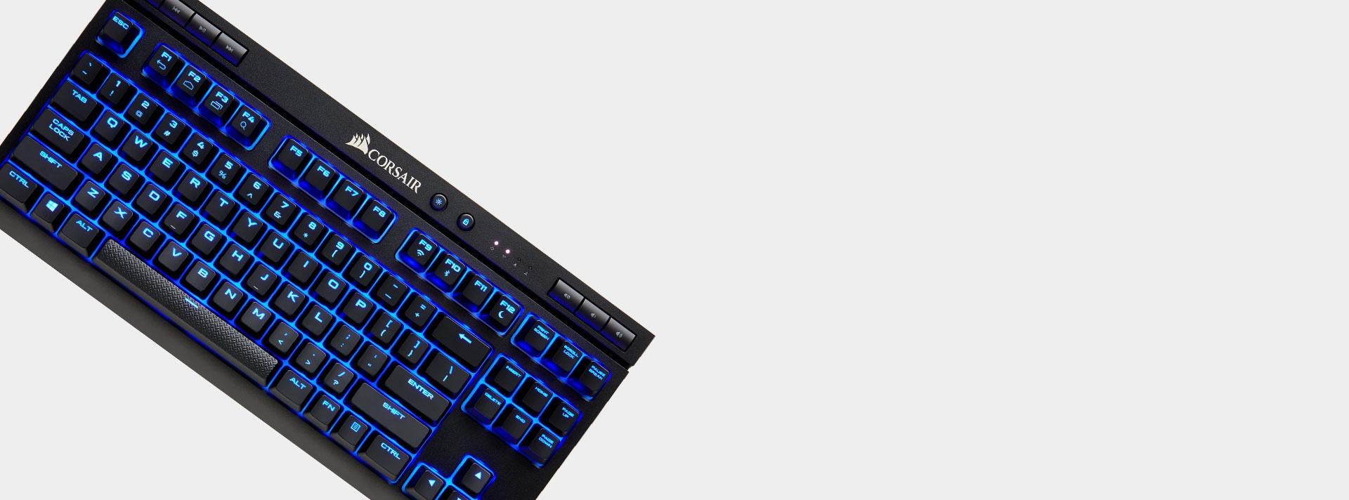 Bàn phím cơ Corsair K63 Wireless - Cherry MX Red (USB/Blue Led) (CH-9145030-NA) có thiết kế nhỏ gọn