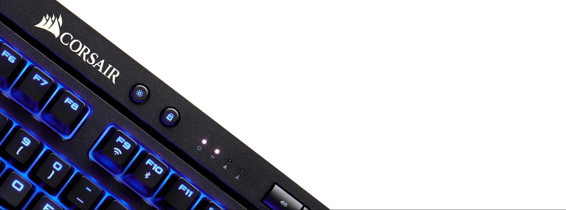 Bàn phím cơ Corsair K63 Wireless - Cherry MX Red (USB/Blue Led) (CH-9145030-NA) có phím nóng khoá nút windows