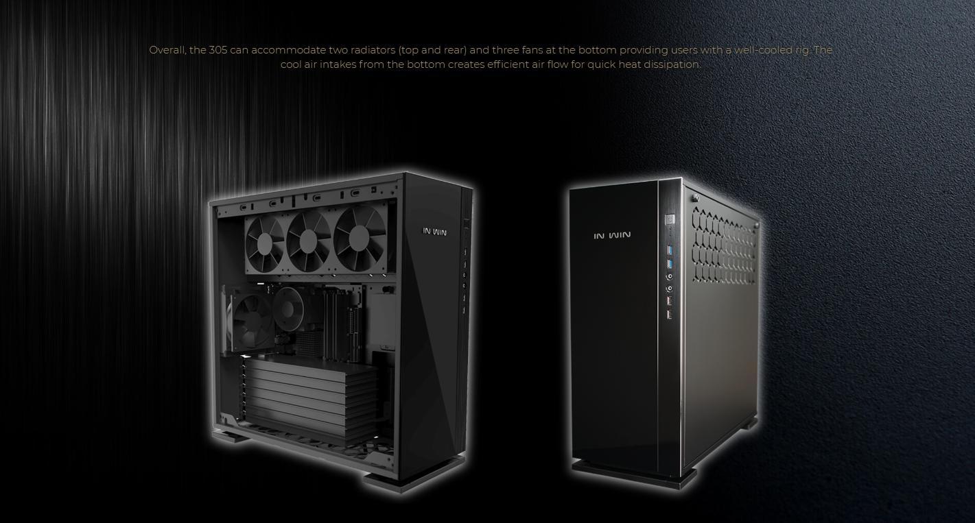 In-Win 305 - Full Side Tempered Glass giải pháp tản nhiệt đa dạng