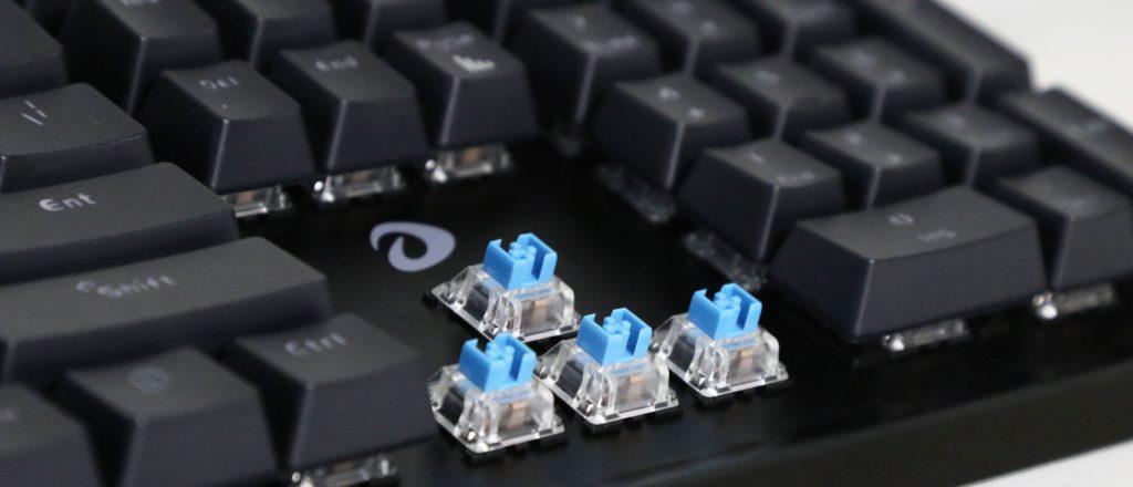 Bàn phím cơ Dareu DK1280 RGB Mechanical Blue D Switch Black sử dụng switch D độc quyền của DareU