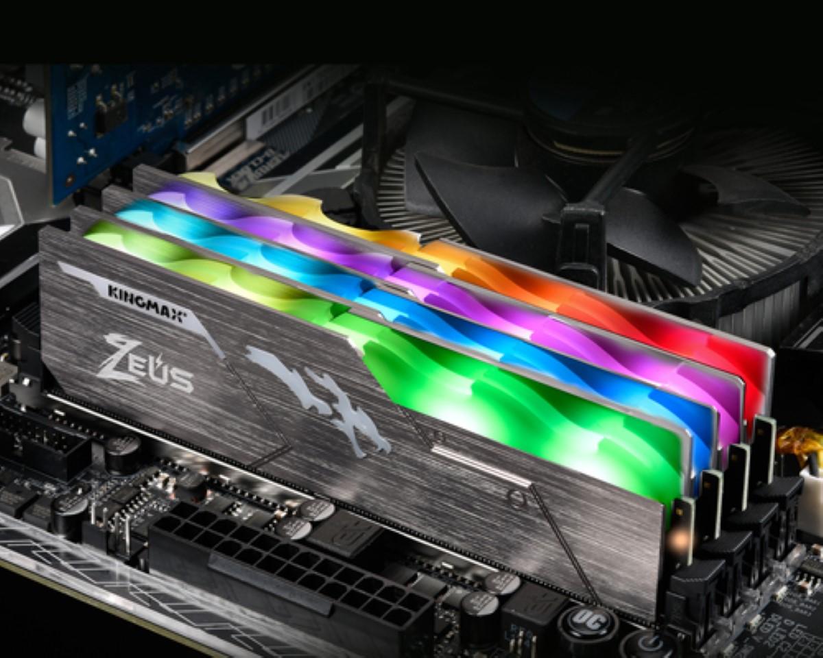 Ram Desktop Kingmax Zeus Dragon RGB (GZNG43F-18KIGP) 8G DDR4 3000Mhz