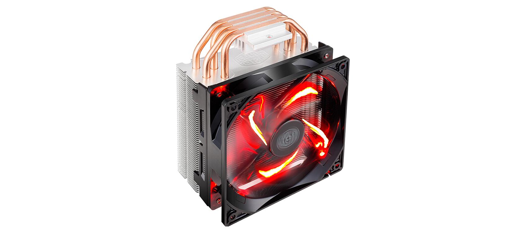 Tản nhiệt CPU Cooler Master T400i Red được gia công rất tốt, tản dày dặn, chắc chắn, sáng bóng