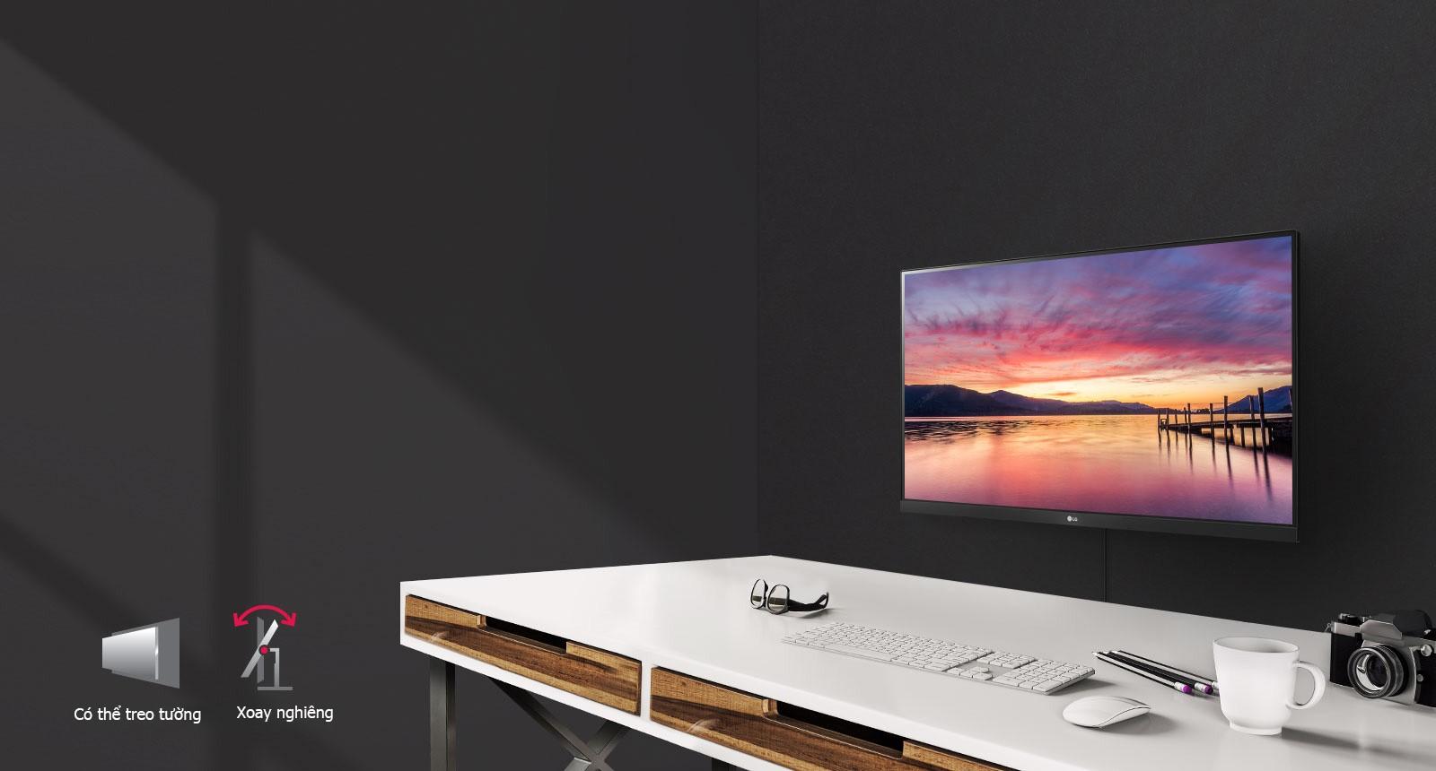 Màn hình LG 24MK600M-B điều khiển trên màn hình