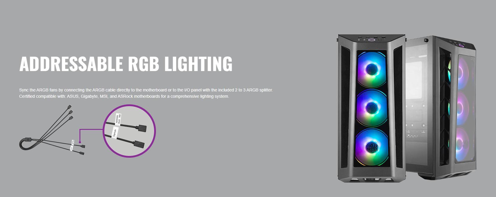 Case Cooler Master MasterBox MB530P (Mid Tower/Màu Đen /Led RGB) giới thiệu 4