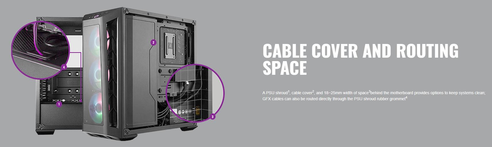 Case Cooler Master MasterBox MB530P (Mid Tower/Màu Đen /Led RGB) giới thiệu 5