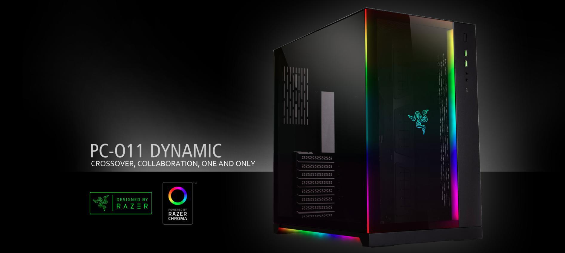 Case LIAN-LI PC-O11 DYNAMIC RAZER Edition (Mid Tower/Màu Đen) giới thiệu