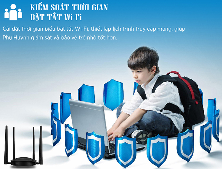 Router wifi Totolink A800R Wireless AC1200 3