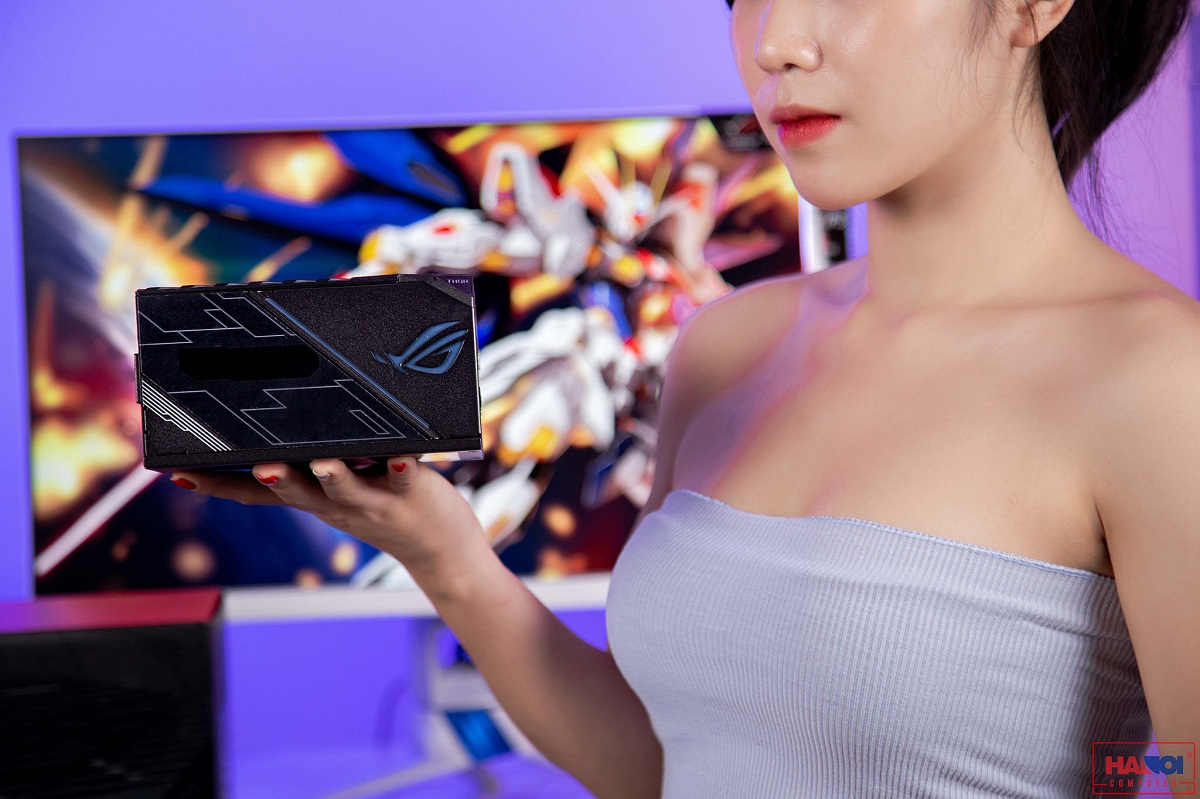 Nguồn Asus ROG Thor 1200W Platinum - RGB 1200W 80 Plus Platinum Full Modular thực tế