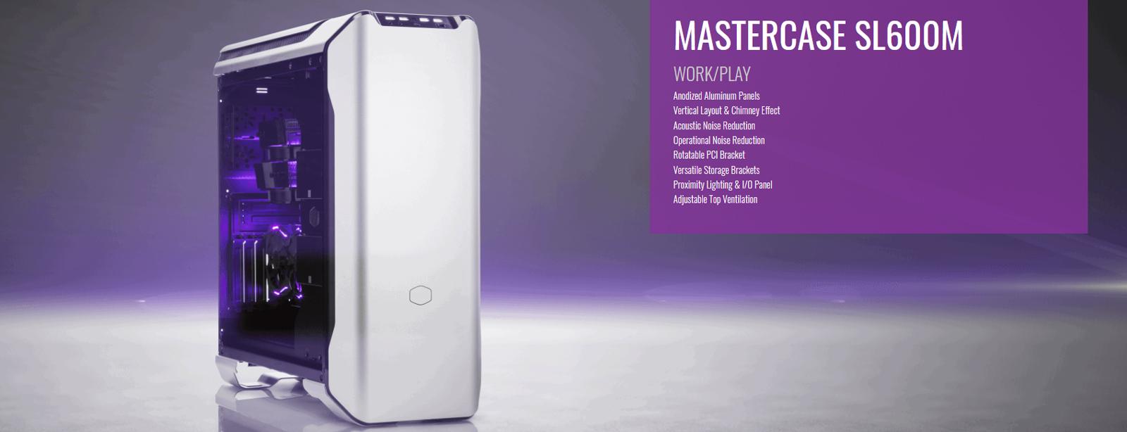Cooler Master Master Case SL600M (Mid Tower/Màu Trắng) giới thiệu