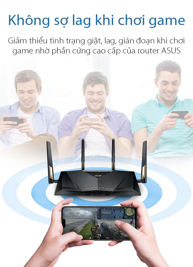 Router wifi ASUS RT-AX88U Chuẩn AX6000 - Wifi 6 8